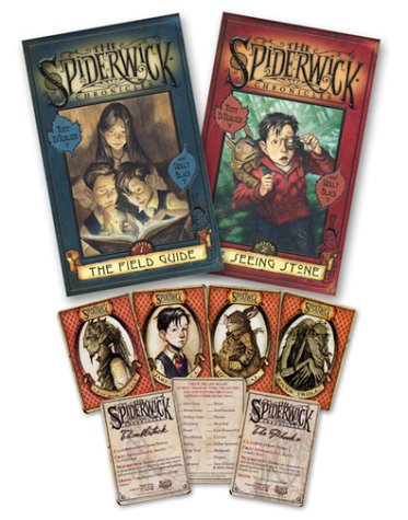Read Online The Spiderwick Chronicles (Book 1: The Field Guide, Book 2: The Seeing Stone, Trading Cards pack of 7) PDF