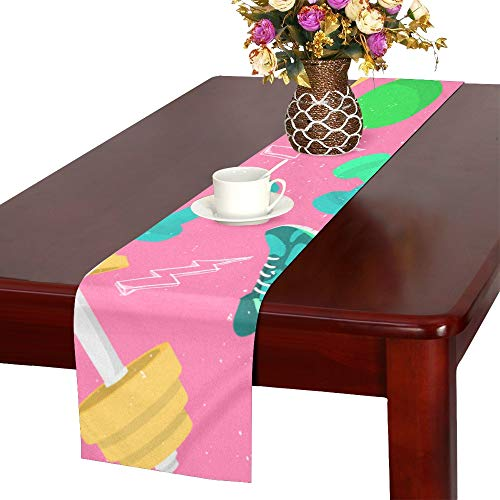 WUwuWU Sneakers Sports Hand-Painted Casual Table Runner, Kitchen Dining Table Runner 16 X 72 Inch for Dinner Parties, Events, Decor