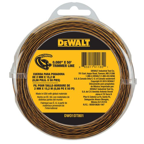 String Trimmer Line 50-Feet by 0.080-Inch Triming Cord Weedw