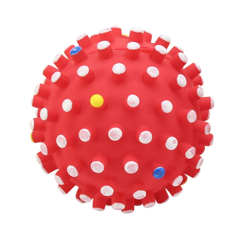 12cm QYSZYG Dog Supplies Dog Toys Bite-Resistant Pet Toys Large Dog Toy Ball Vocal Small Dog Toy pet Toy (Size   12cm)