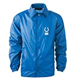 NFL Indianapolis Colts Men's Coaches Windbreaker Jacket, Large, Royal