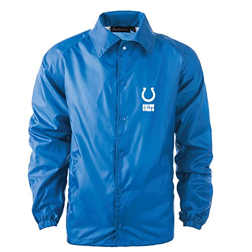 Dunbrooke Apparel NFL Indianapolis Colts Men's Coaches Windbreaker Jacket, X-Large, (Indianapolis Colts Jacket)