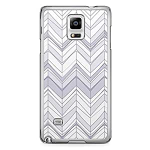 Chevron 4 Samsung Note 4 Transparent Edge Case - Chevron Collection