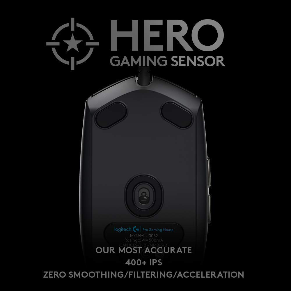 fd1c2e192ad Amazon.com: Logitech G PRO Hero Gaming Mouse (Renewed): Computers &  Accessories