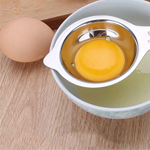Lugii Cube Gadget de Cuisine Oeuf s/éparateur doeufs en acier inoxydable Passoire pour s/éparer les blancs d/œuf et jaune d