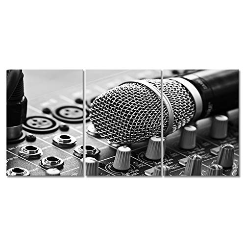VIIVEI Black and White Musical Canvas Wall Art Music Prints Home Decor for Living Room Bedroom Music Room Pictures 3 Panel Posters Painting Artwork Framed Ready to Hang (12