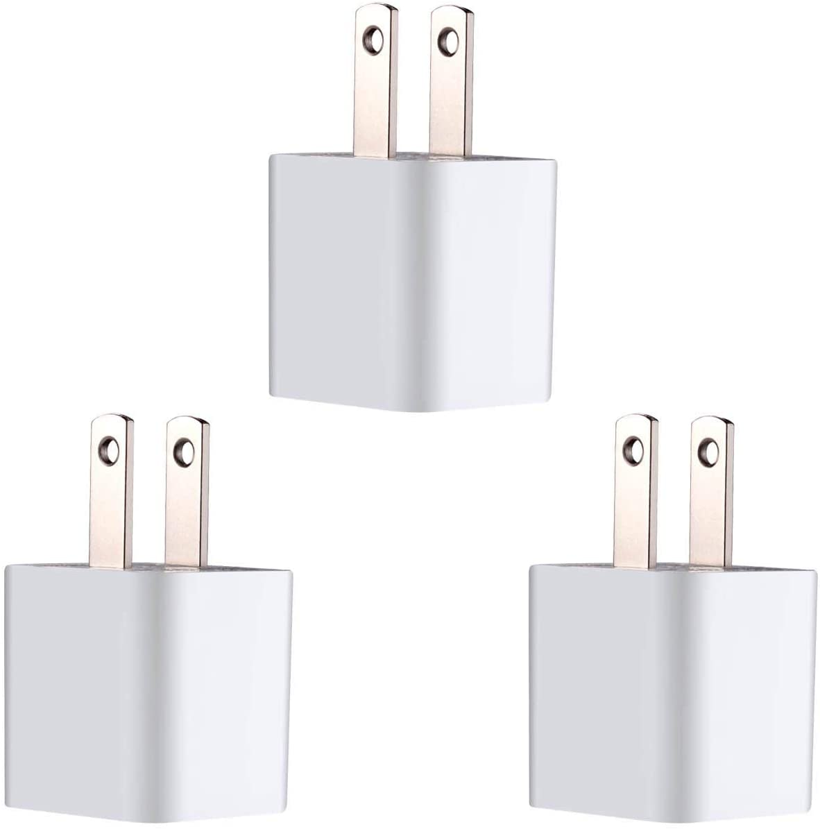 ZLONXUN Wall Charger Block Power Adapter Plug Charging Cube for All iPhones, iPod Touch (3 Pack)