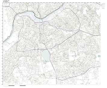 Amazoncom ZIP Code Wall Map of Louisville KY ZIP Code Map