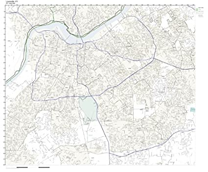 Amazoncom ZIP Code Wall Map of Louisville KY ZIP Code Map