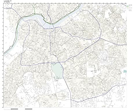 Amazoncom ZIP Code Wall Map Of Louisville KY ZIP Code Map - Kentucky zip code map