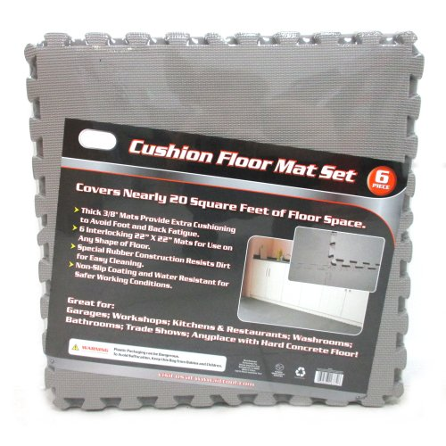 Gray 128 Play Flooring Mat Puzzle Mats