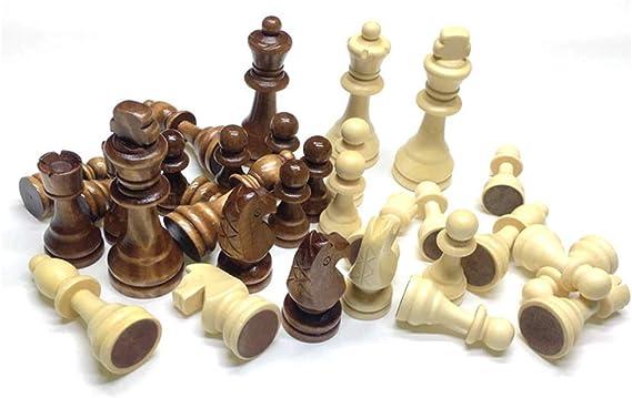 Guanici Juego de ajedrez completo con piezas Piezas de ajedrez internacionales portátiles Fácil Llevar para Viajar Juego Ajedrez para Niños Infantil Adulto para Juegos al Aire Libre o Regalos: Amazon.es: Hogar