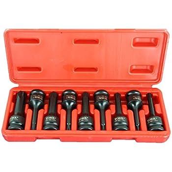 12.7mm 76mm TEMO H-14 3 inch Square Drive Auto Repair Tool GC Long Hex Hexagon Black Impact Bit Socket 1//2 inch
