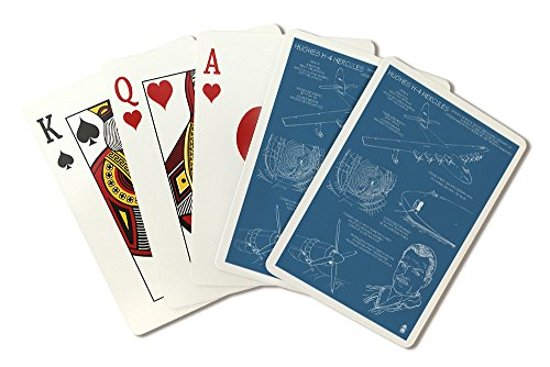 Spruce Goose - Hughes H-4 Hercules Blueprint (Playing Card Deck - 52 Card Poker Size with Jokers) (Goose Deck)