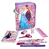 Disney Anna and Elsa Zip-up Stationery Kit - New
