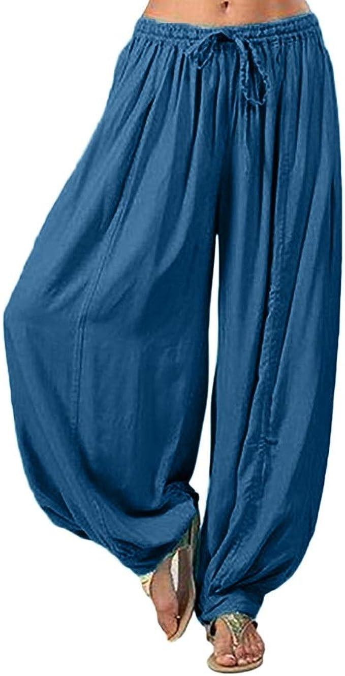 Women Pants Wintialy Women Plus Size Solid Color Casual Loose Harem Pants Yoga Pants Women Trousers