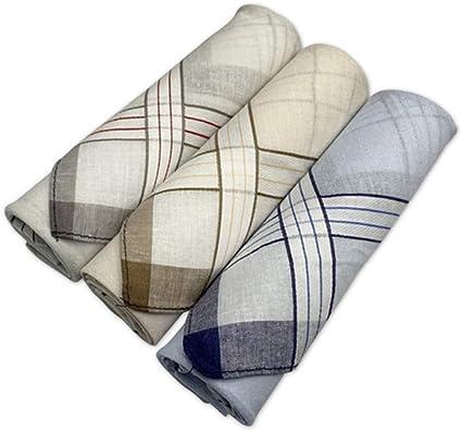 Pañuelos para hombre, 100% algodón suave, pañuelos de bolsillo para hombre Caja de regalo (3 piezas) 85: Amazon.es: Ropa y accesorios