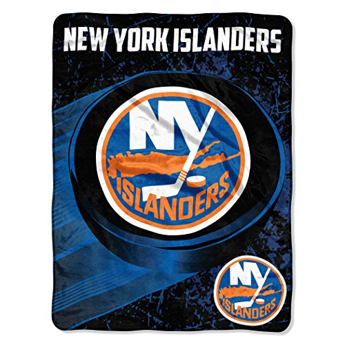 fan products of Officially Licensed NHL New York Islanders Ice Dash Micro Raschel Throw Blanket, 46