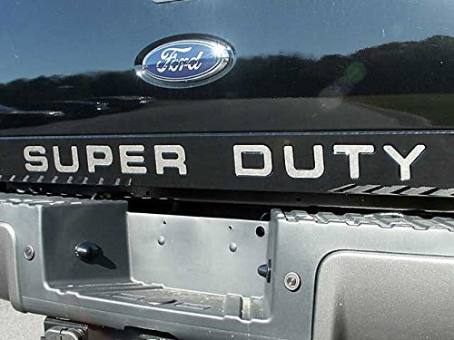 QAA FITS F-250 & F-350 SUPER DUTY 2008-2016 FORD (9 Pc: Stainless Steel SUPER DUTY Tailgate Letter Insert, 2/4-door) SGR48320