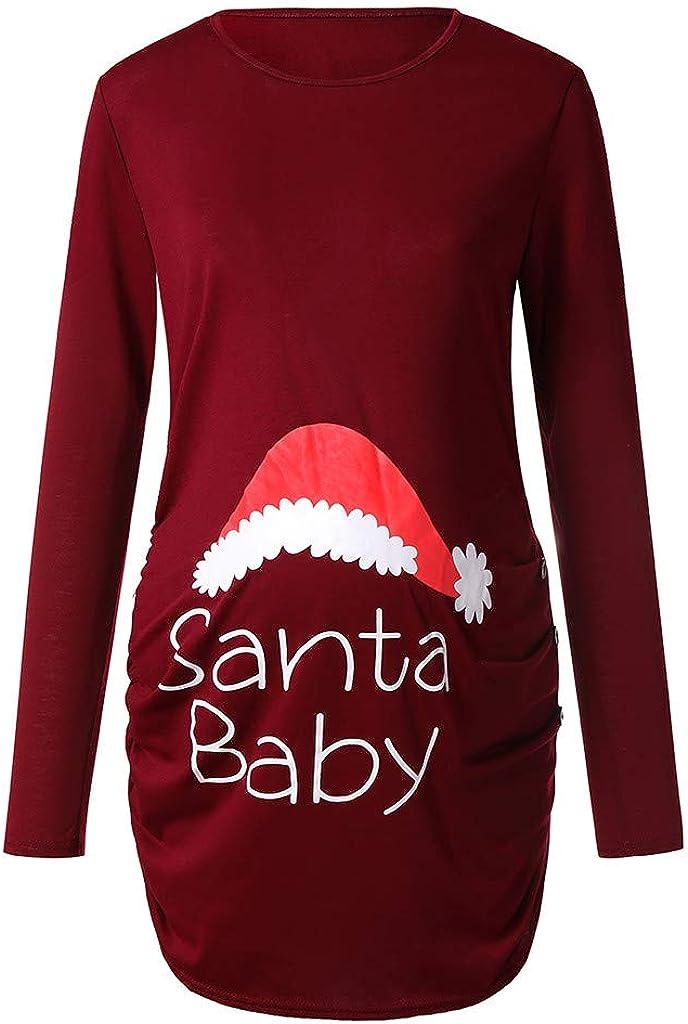 Babloo T Shirt Natale Maglia Premaman Natalizia Renna Manica Lunga