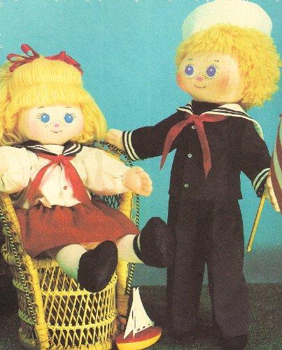 Daisymae Dolls, Original Cloth Doll Patterns, Sailor Skipper & Kate Dolls (21
