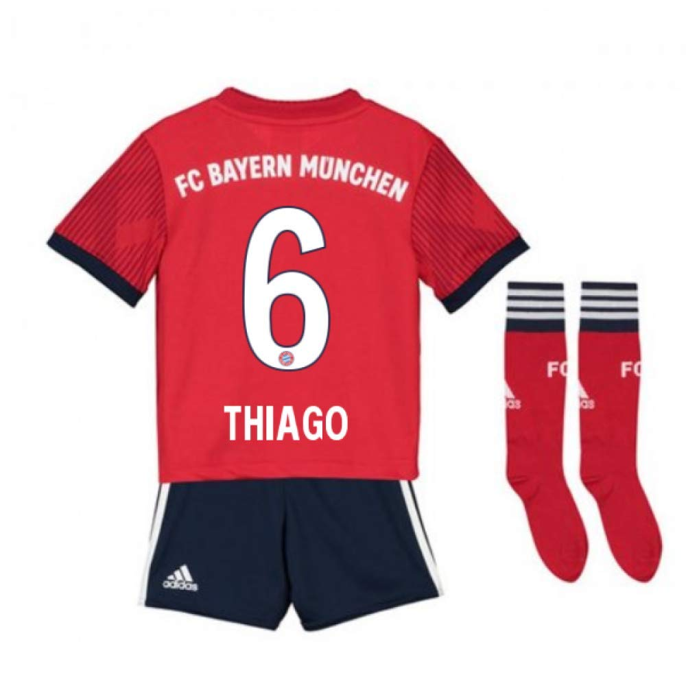 UKSoccershop 2018-2019 Bayern Munich Adidas Home Little Boys Mini Kit (Thiago 6)
