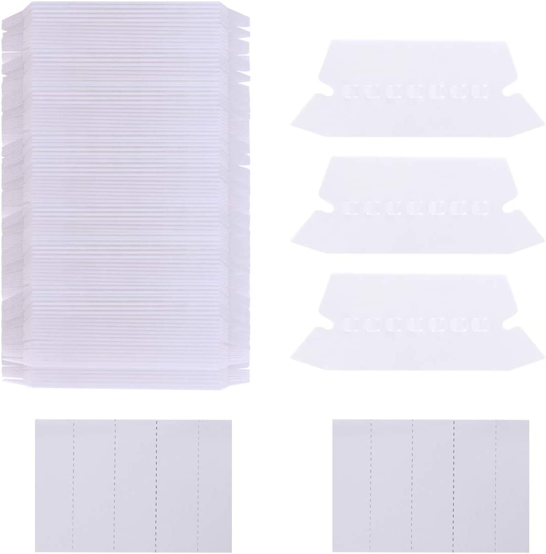 Aunifun 250 Sets Hanging File Folders Tabs and Inserts White Label Inserts for Letter Size Files Folder Organizer Quick Identification, 2 Inch Hanging File Inserts