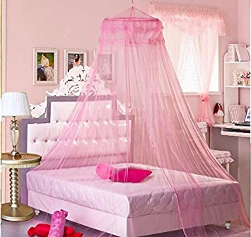 Sell4Style Mosquito Net for Bed Canopy Dome White Elegant Lace For Crib Twin Full Queen Bed