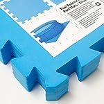 EYEPOWER-Tappetino-Puzzle-Set-di-4-Tessere-Ideale-per-Coprire-Fondo-Bordo-Piscina-Doccia-Morbido-Tappeto-Eva-1cm-di-Spessore-1qm-Estensibile-Azzurro