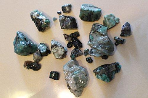 1100ct (1/2lb) Rough Brazilian Emerald Natural Raw Healin...