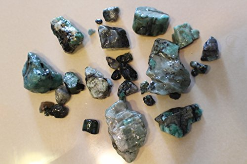1100ct (1/2lb) Rough Brazilian Emerald Natural Raw Healing Crystals