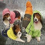 LOVEPET Big Dog Raincoat Medium and Large Dogs Dog Poncho Waterproof Pet Clothing Polyester 4 Pcs