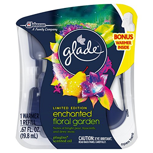 Garden Air Freshener (Glade Plugins Scented Oil Air Freshener Starter Kit, Enchanted Floral Garden)