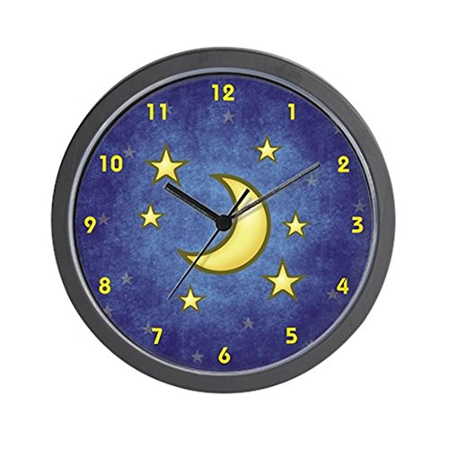 CafePress - Stars And Moon Clock - Unique Decorative 10