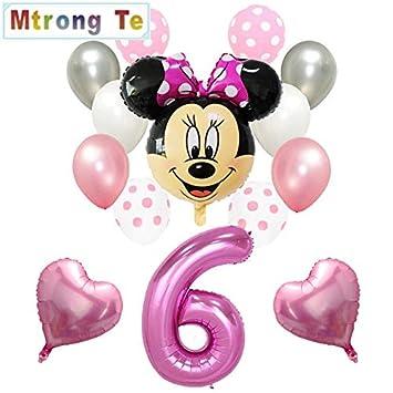 Globos Globo de decoración de Feliz cumpleaños Mickey Minnie ...