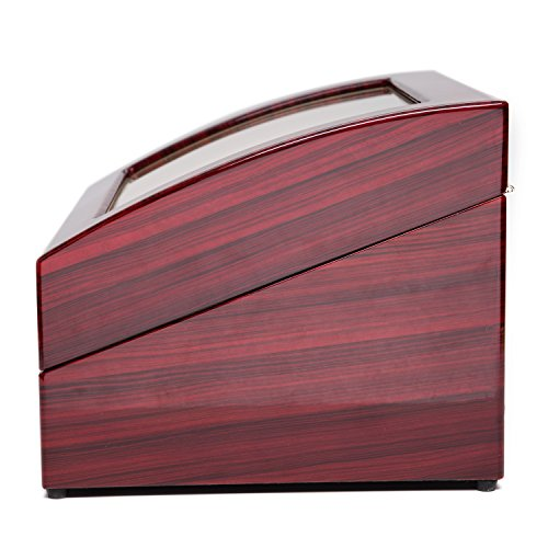 Wood 4+6 Watch Winder Mens Watches Box Storage Display Automatic Rotation Jewelry Case Organizer by Gregarder (Image #4)