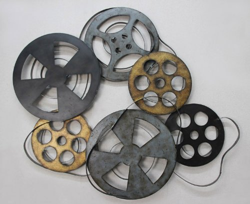 TWG Reel Film Metal Film Reel Hollywood Style Wall Decor by TWG
