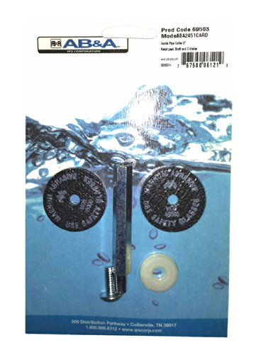 AB&A 69503 Inside Pipe Cutter Shaft with 2 Blades Retail Pack , 3