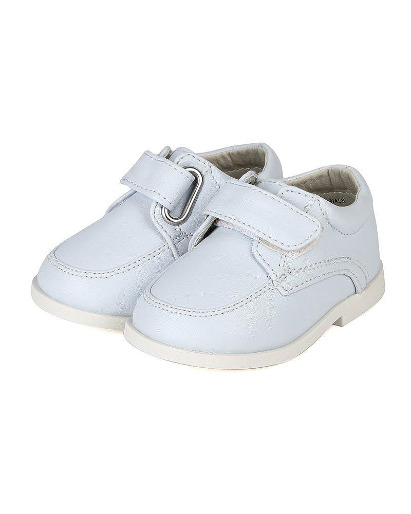 Infant//Toddler Boys White Auston Leatherette Strap School Dress Shoe AH58