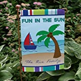 """Personalized Summer Fun Double Sided Garden Flag, 12 1/2"""" w x 18"""" h, Polyester Review"""