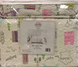 Parisian 3-Pc Full/Queen Quilt Set by Chloe Roje | Features Eiffel Tower and other Paris Scenes