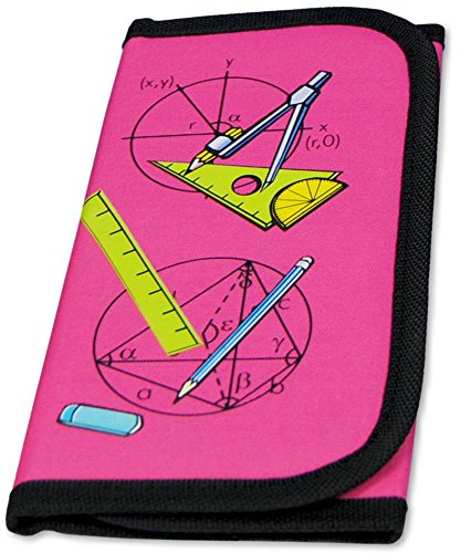 MW Handel PI Maths Compass Set in Practical Case with Velcro Closure Pink...
