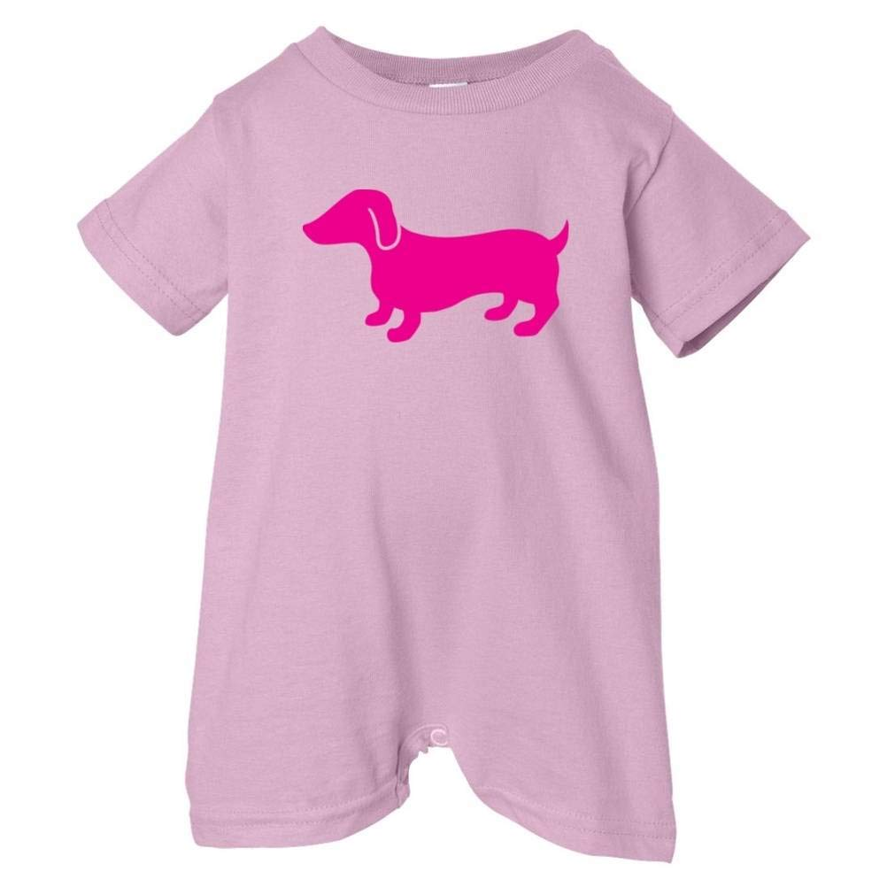 T-Shirt Romper Raspberry Mashed Clothing Unisex Baby Dachshund