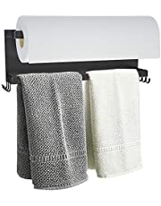 YJSMO Magnetic Towel Holder for Refrigerator, Towel Rack Magnetic Shelf Multi Function Made of Iron,Used for Kitchen,Bathroom,Toilet, Drill Free