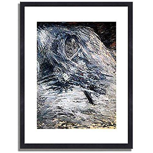 クロードモネ「死の床のカミーユ Camille Monet auf dem Totenbett 1879 」 インテリア アート 絵画 プリント 額装作品 フレーム:木製(黒) サイズ:S (221mm X 272mm) B00N63XW3K 1.S (221mm X 272mm)|3.フレーム:木製(黒) 3.フレーム:木製(黒) 1.S (221mm X 272mm)