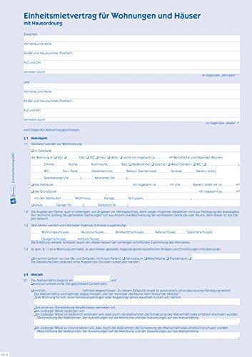 AVERY Einheitsmietvertrag, mit Hausordnung, 6-seitig