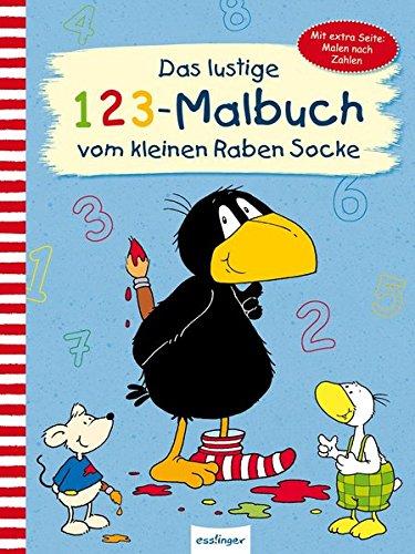 Das lustige 1 2 3 – Malbuch vom kleinen Raben Socke (Der kleine Rabe Socke, Band 23350)