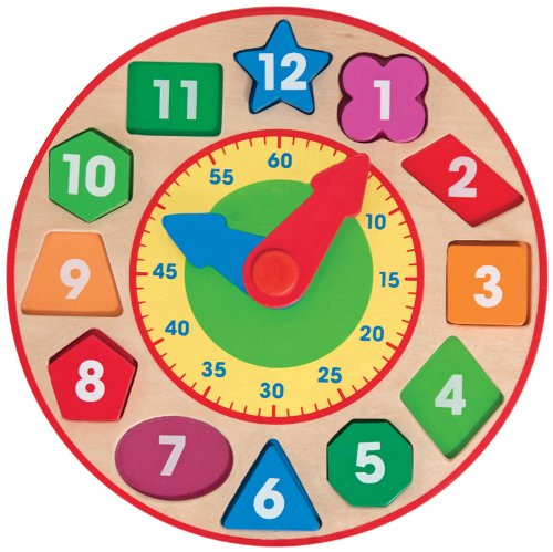 Wooden Toys - Shape Sorting Clock