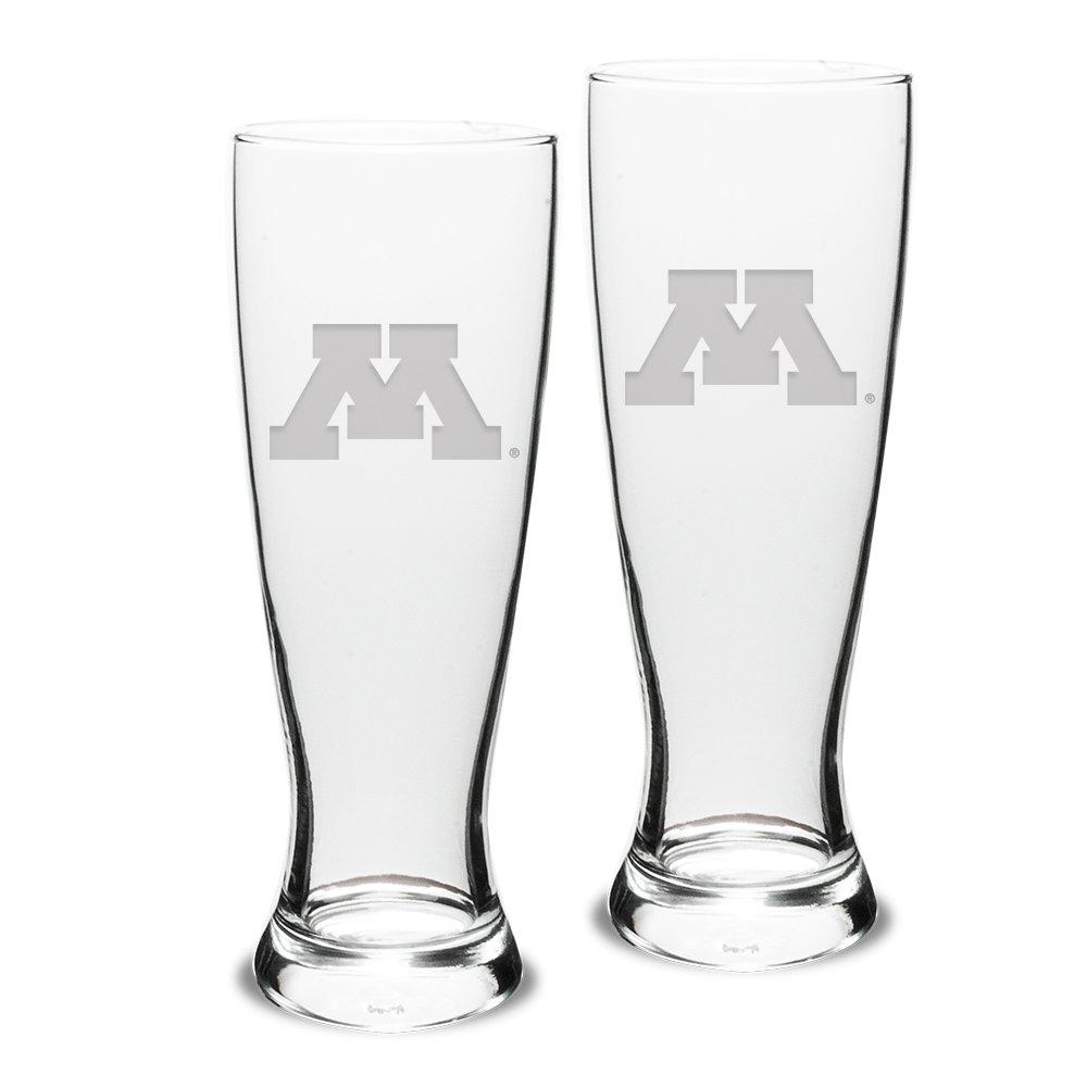 Clear University Glass NCAA Minnesota Golden Gophers Adult Set of 2-23 oz University Pilsners Deep Etch Engraved One Size