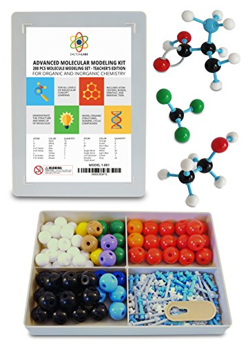 Molecular Model Kit with Molecule Modeling Software and User Guide - Organic, Inorganic Chemistry Set for Building Molecules - Dalton Labs 200 Pcs Advanced Chem Biochemistry Student Edition (Plastic Model Edition)